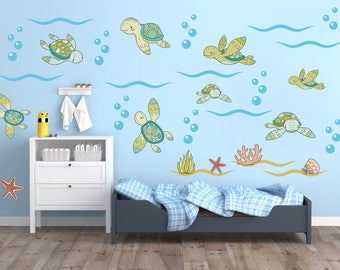 sea turtle baby room decor under the sea wall mural for nursery