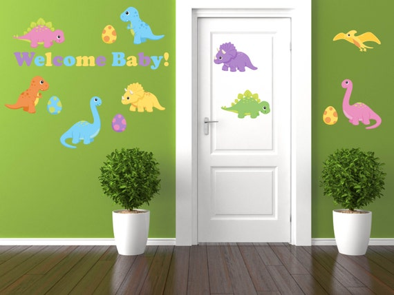 Dinosaur Baby Shower Decorations Baby Boy Shower Decorations Etsy