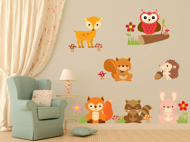 Beeindruckend Wanddekoration Kinderzimmer Ideen Von Tier-wanddekoration Aufkleber - Wand Aufkleber - Baby