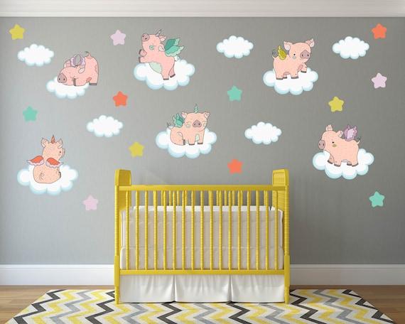 Pig Nursery Decals Nursery Wall Decals Pig Nursery Decor