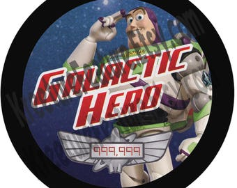 "Galactic Hero 3"" Button  | Buzz Lightyear"