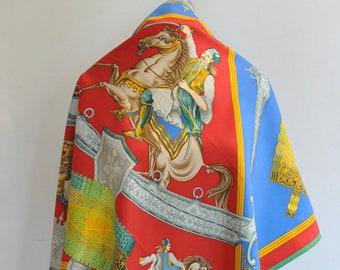 4df7e33f Vintage HERMES 1821 Silk Scarf