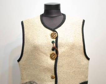GILET di lana vintage GIESSWEIN 7eec6b7453d