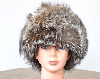 846a29be6f9 Vintage FOX FUR HAT