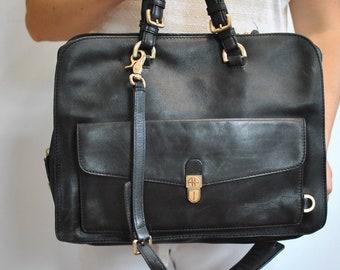 383fdb8d3 Vintage HUGO BOSS LEATHER briefcase , leather document case , laptop  bag............(376)