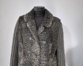 Vintage G. AUGUST PARIS Astrakhan fur jacket , lamb fur jacket (160)