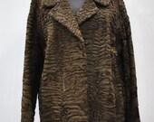 Vintage ASTRAKHAN lamb fur jacket , astrakhan leather jacket (131)