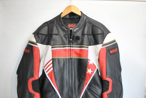 Vintage MOTORCYCLE LEATHER SUIT , men's leather su