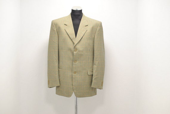 Vintage Tartan blazer , men's blazer , size XL ...