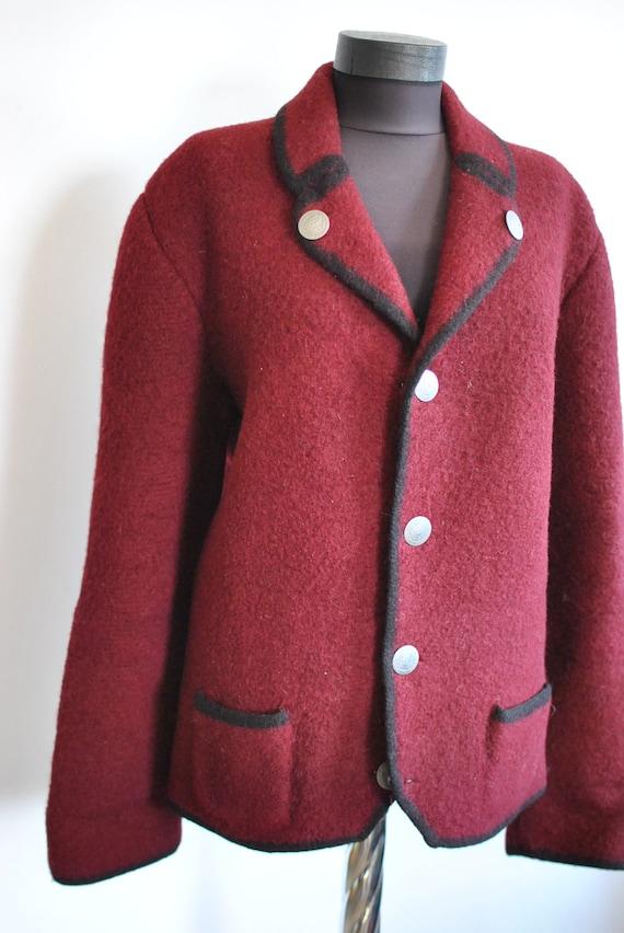 blazer 391 PURE women's WOOL HANDMADE Vintage wzICqx