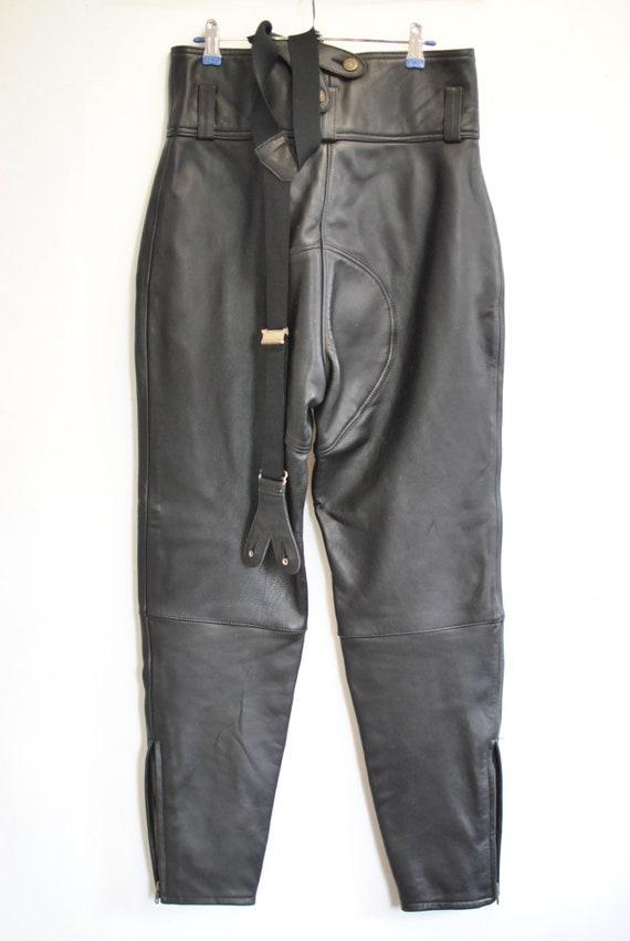 acquista originale Saldi 2019 arte squisita Vintage moto pantaloni di pelle, pantaloni in pelle donna... (127)