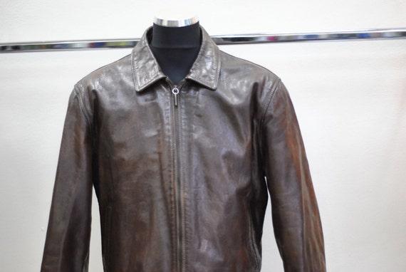 canta único Grapa  Vintage BEN SHERMAN leather jacket made by DUSEMATADOR   Etsy
