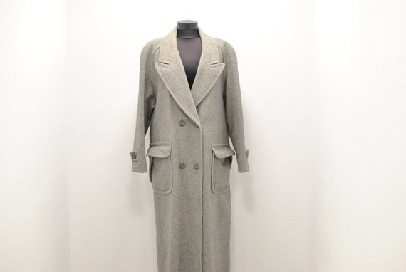 Vintage WOOL MAXI LONG women's coat ..............