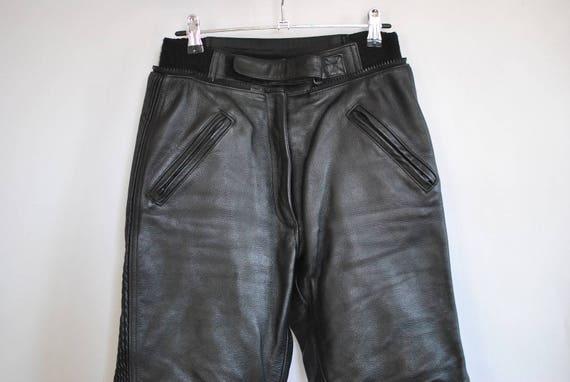 Vintage BIKER LEATHER PANTS , women's leather pant