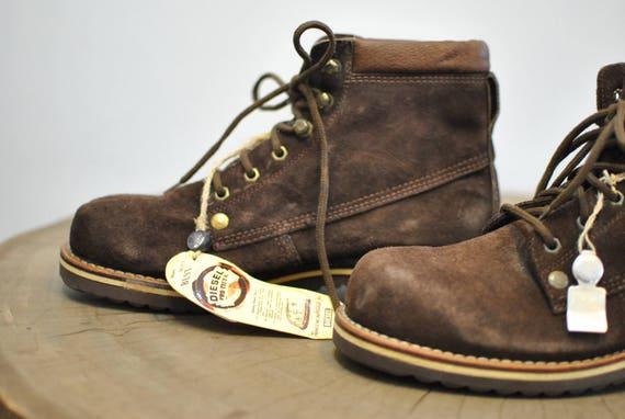 vintage unisexe Chaussures cuir en cheville DIESEL en chaussures 094 cuir de ZBBdqwA