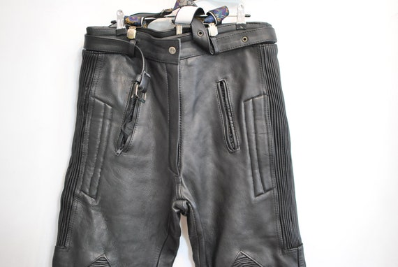 Vintage MOTORCYCLE LEATHER PANTS ,  men's leather