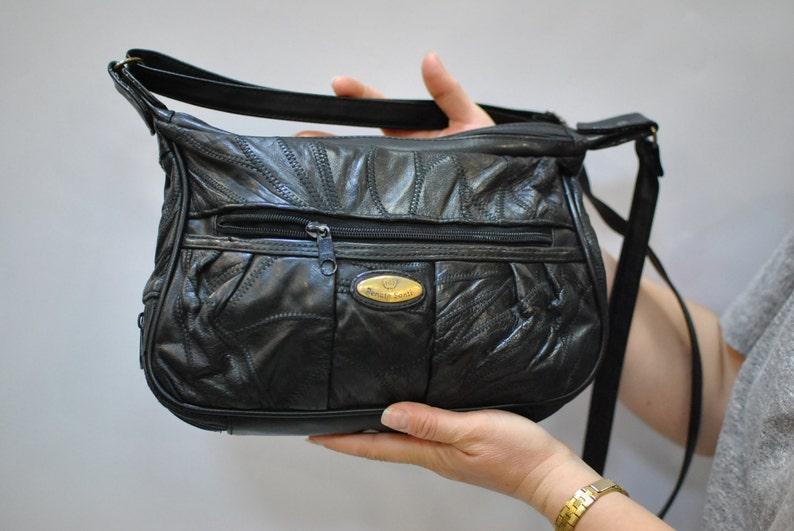 099e7d7a75c6 Vintage RENATO SANTI messenger leather bag...083