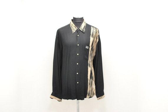Vintage VERSACE  Jeans Couture men's printed shirt