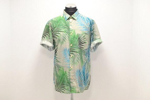 Vintage Printed summer shirt , men's cotton shirt