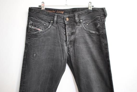 Vintage DIESEL MEN'S JEANS  black jeans W-32......