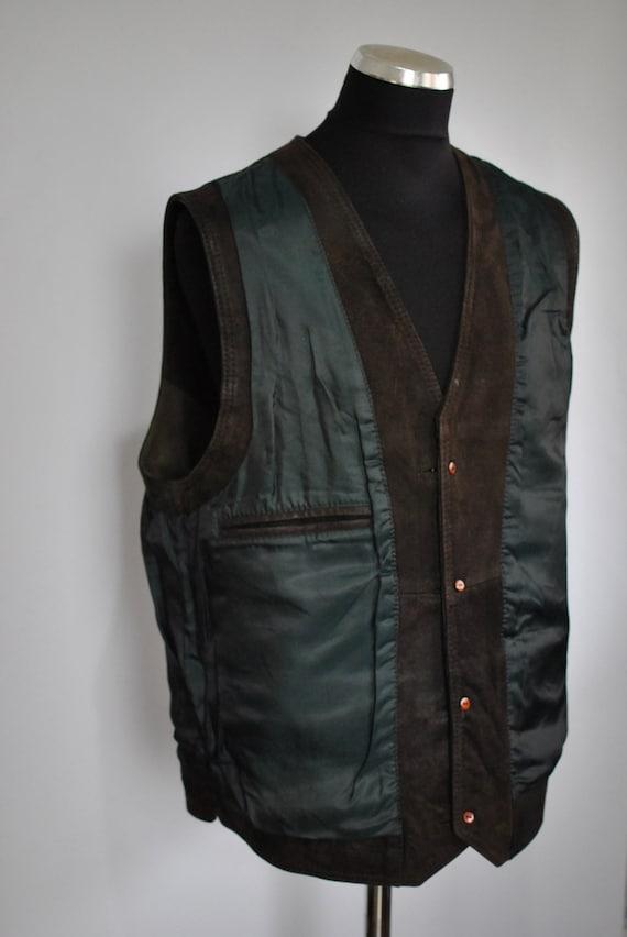 vest leather COLLECTION 035 ROSSELINI men's Vintage 7fpPqa