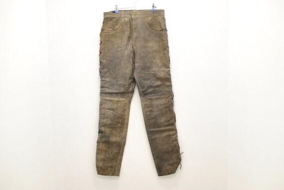 Vintage Leather pants , men's leather pants , moto