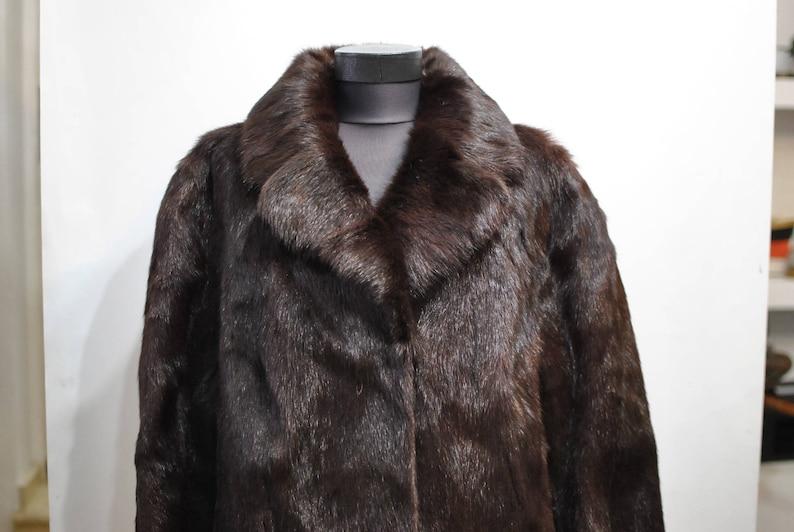 479 glamorous fur coat.............. winter fur coat Vintage FOX FUR FULL length coat