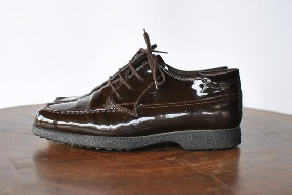 Vintage TOD'S LEATHER shoes , ITALIAN leather lace