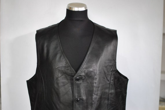 Vintage MADDOX LEATHER VEST , men's leather vest..