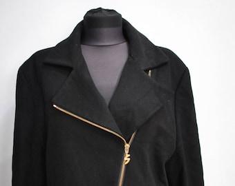 Vintage BOGNER BLACK COAT , black twill coat...............(501)