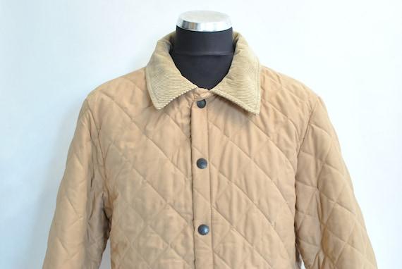 Vintage BARBOUR MEN'S PADDED long jacket .........