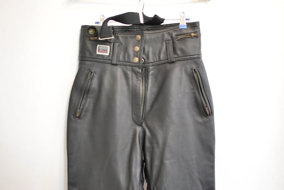 Vintage MOTORCYCLE LEATHER PANTS , women's leather