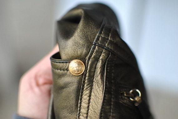 Vintage GIANNI VERSACE  leather pants , 80's leath