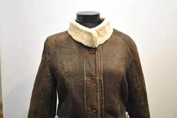 606 JACKET WOMEN'S SHEARLING Vintage Vintage SHEARLING wRqBCZ1T