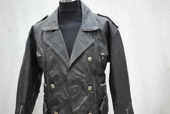 Vintage LEATHER JACKET , biker jacket , men  jacke