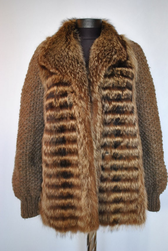 Vintage CLAUDE GILBERT Paris fashion  fur jacket .