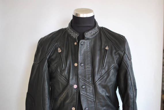 Vintage HARRO LEATHER BIKER jacket , women's leath