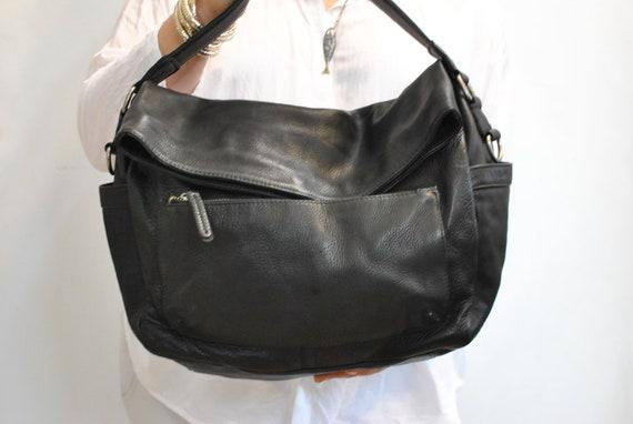 Vintage WOMEN'S LEATHER BAG , women's handbag.....