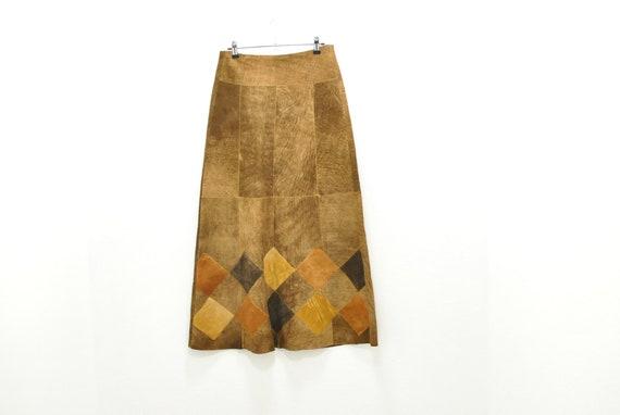 Vintage Leather long skirt , women's skirt .......