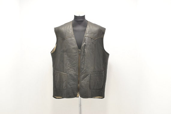 Vintage LAMBSKIN MEN'S VEST , winter vest , Xxl...