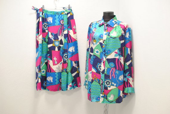 Vintage Peter Hahn silk summer suit , women's sum… - image 2