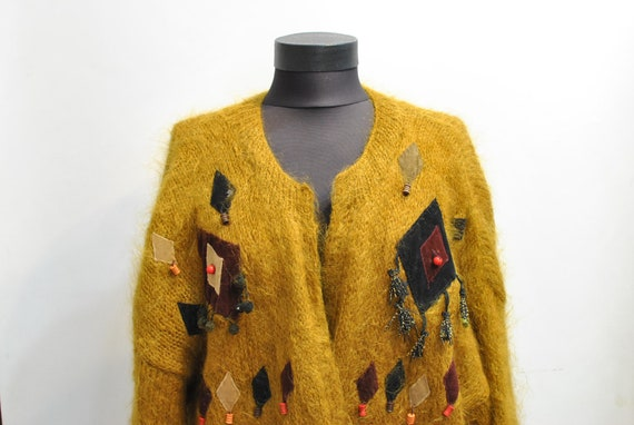 Vintage HANDMADE WOMEN'S CARDIGAN , fashion oversi