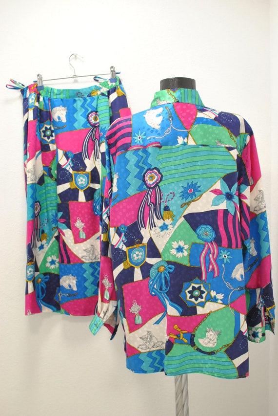 Vintage Peter Hahn silk summer suit , women's sum… - image 7