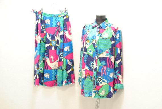 Vintage Peter Hahn silk summer suit , women's summ