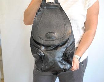 Vintage LEATHER BACKPACK , women's backpack ...........(393)