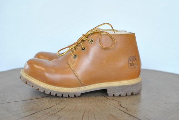 Vintage TIMBERLAND MEN'S WINTER ankle boots , leat
