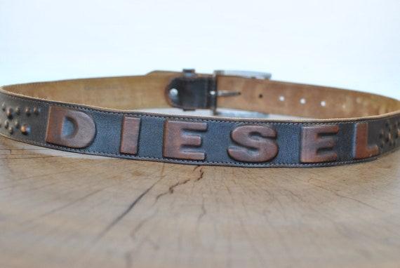 Vintage Diesel men's leather belt ................