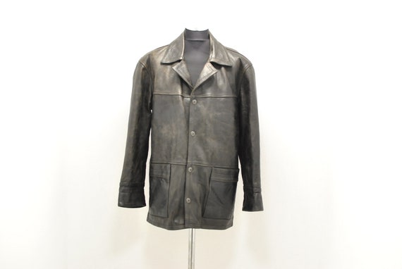 Vintage Skins waxed leather parka , men's winter p