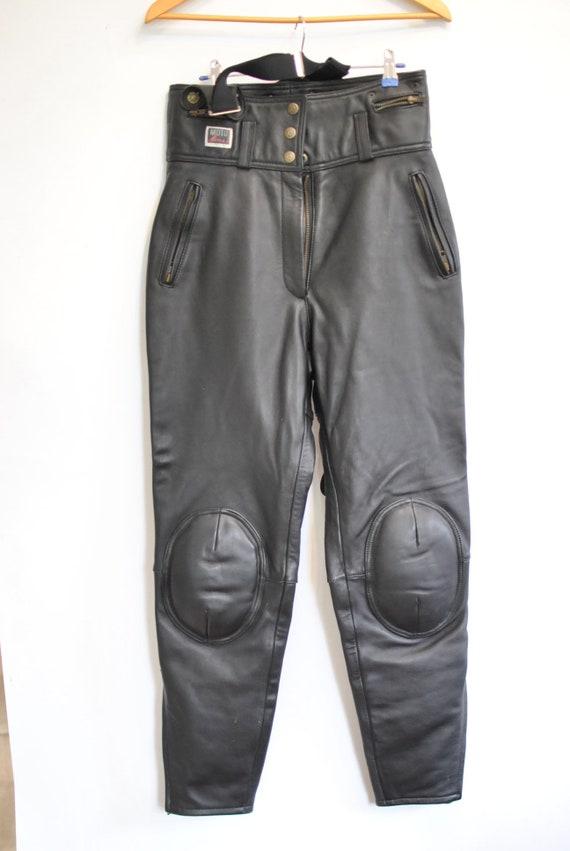 Vendita scontata 2019 bambino prezzo abbordabile Vintage moto pantaloni di pelle, pantaloni in pelle donna... (127)