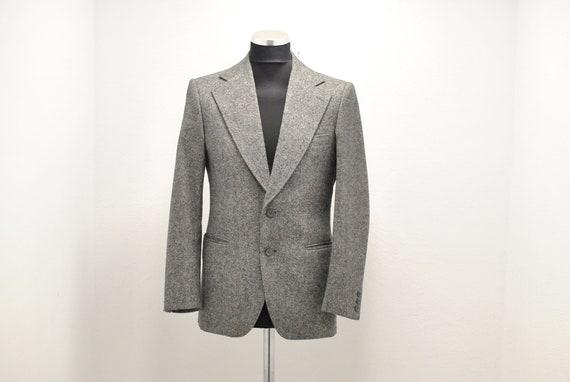 Vintage MEN'S grey blazer , office men's blazer...